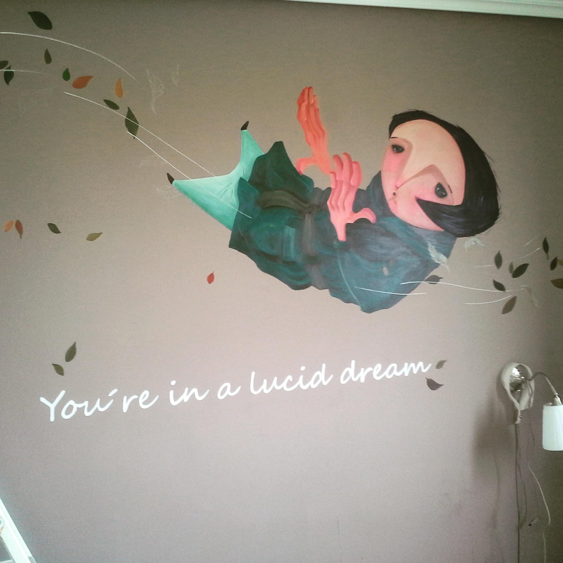 Mural en hogar de La Fabrica de arte