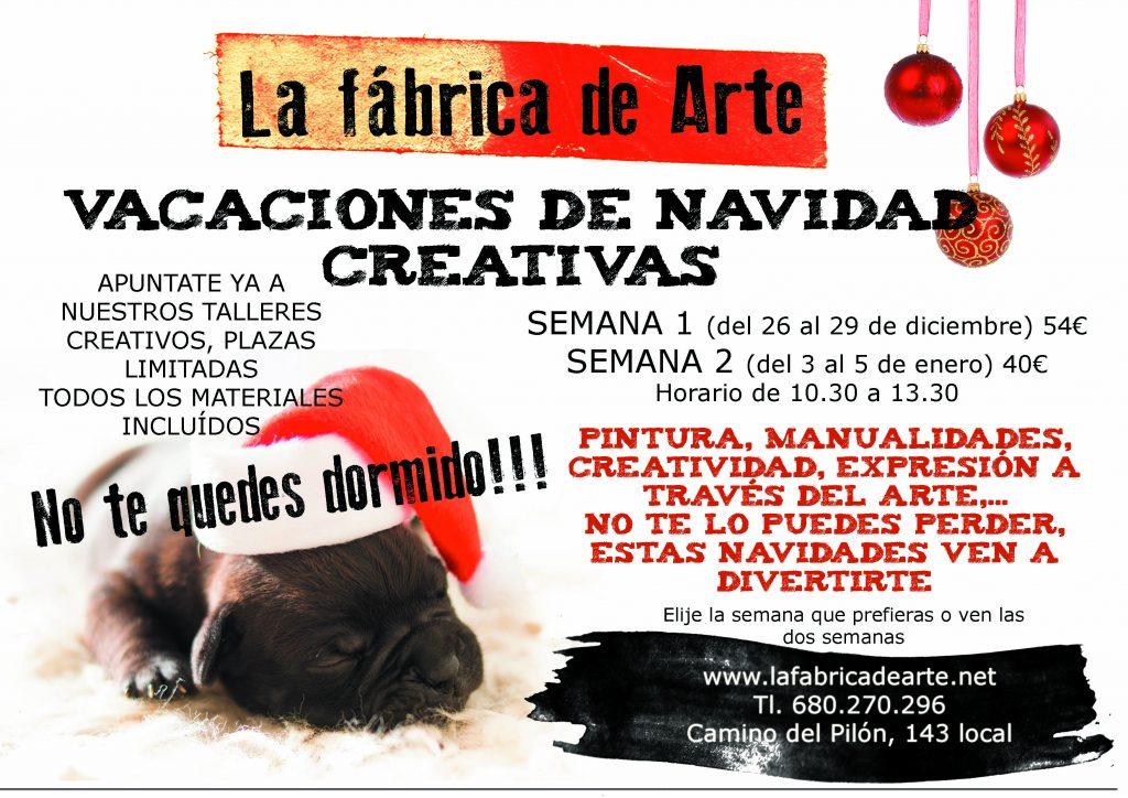 vacaciones de navidad creativas en la fabrica de arte de Zaragoza